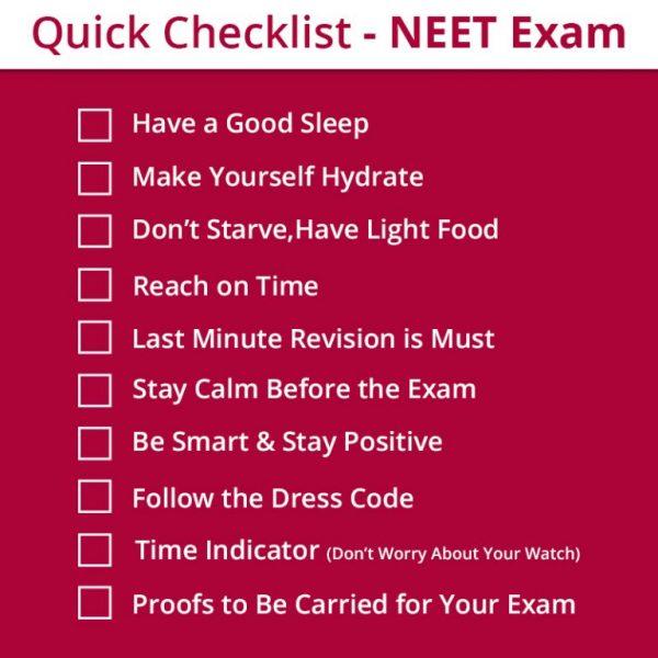 NEET checklist