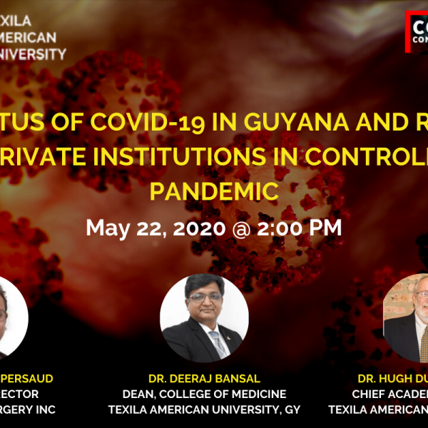 Panel discussion on Status of Covid-19 in Guyana