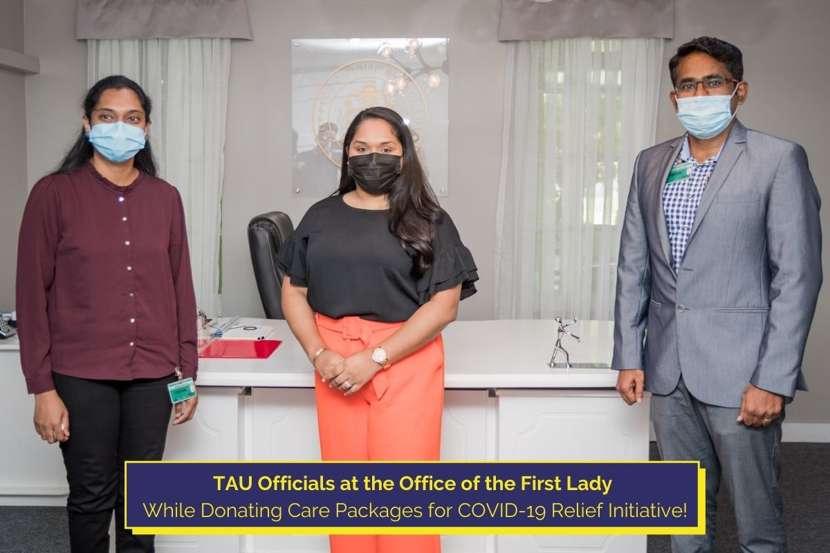 TAU Donates Care Packages to Office of the First Lady for COVID-19 Relief Initiative!