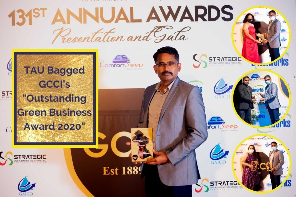 Outstanding Green Business Award 2020 from GCCI