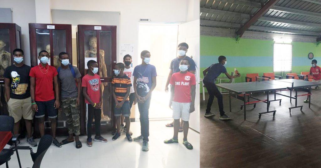 St. John Bosco boys at lab and sports